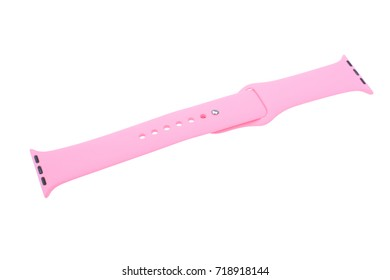 Watchband. Silicone strap for sports watches. Color bracelet for smart watches.