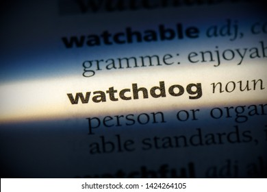 watchdog word in a dictionary. watchdog concept, definition.
