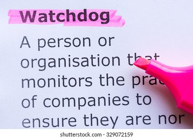watchdog word highlighted on the white background