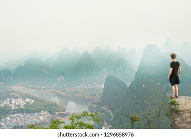 Watching the karst landscape of Yangshuo