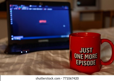 Watching series with a cup of tea. Just one more episode 3