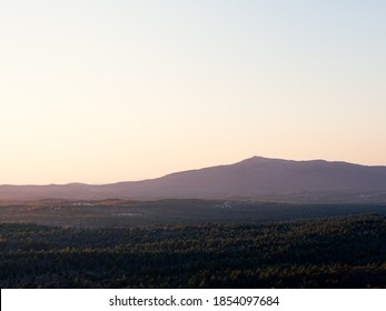 Watching the sun set over Mount Monadnock from the Wapack Trail in southern New Hampshire