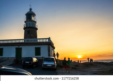 Watching the sunset from Corrubedo lighthouse in Ribeira town
