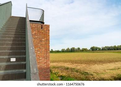 watching tower in national park Biesbosch, The Netherlands