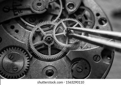 Watchmaker's workshop, mechanical watch repair