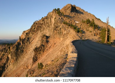Watchman Fire Lookout and Watchman Trail from The Corrals, Crater Lake National Park, Oregon, USA