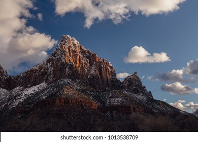 The Watchman at Sunset in Zion, Utah.