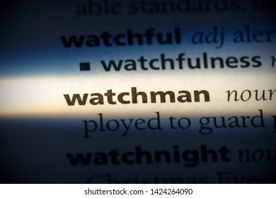 watchman word in a dictionary. watchman concept, definition.