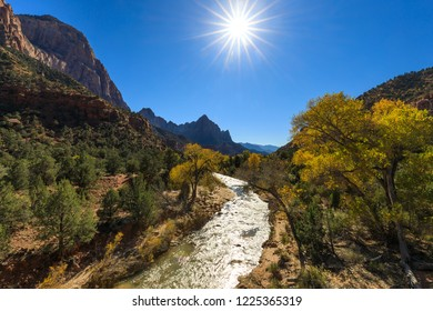 The Watchman Zion National Park in Autumn