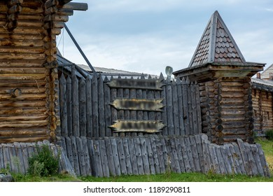 The watchtower is cut down from thick oak logs with a small loophole for shooting
