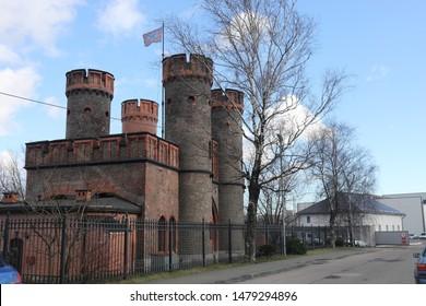 Watchtower in Kaliningrad behind the fence