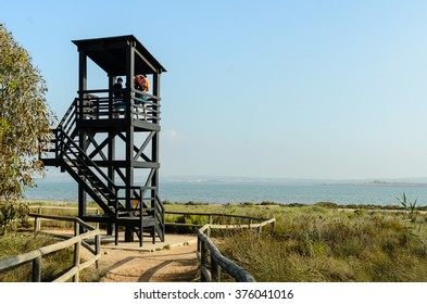 watchtower in the lagoon