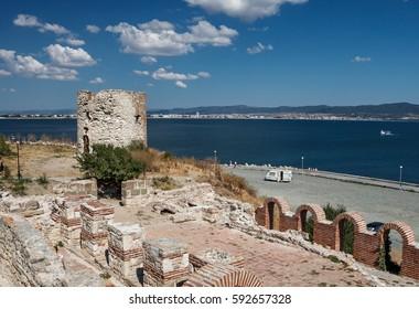 Watchtower in Nessebar, Bulgaria.