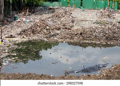 Water, Air Pollution of slum