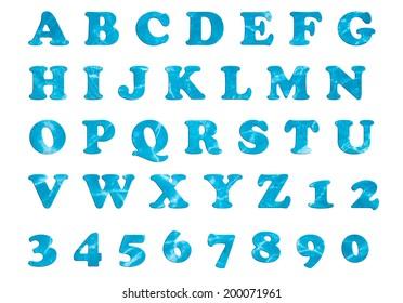 water alphabet Set
