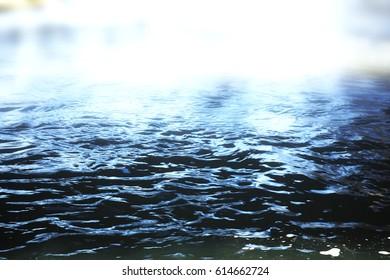 Water background, soft focus