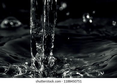 Water background / Water is a transparent, tasteless, odorless, and nearly colorless chemical substance, which is the main constituent of Earth's streams