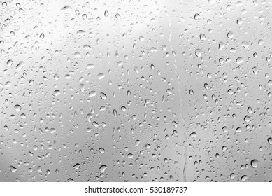 Water backgrounds with water drops on glass.
