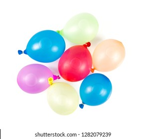 water balloons isolated on white