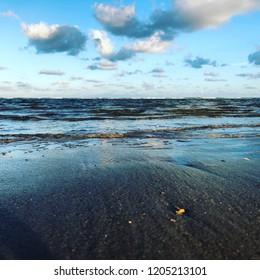 Water Beach Sundown Elements