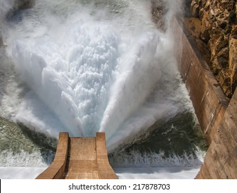 Water being released from a Dam