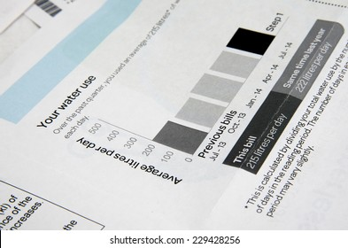 water bill  closeup
