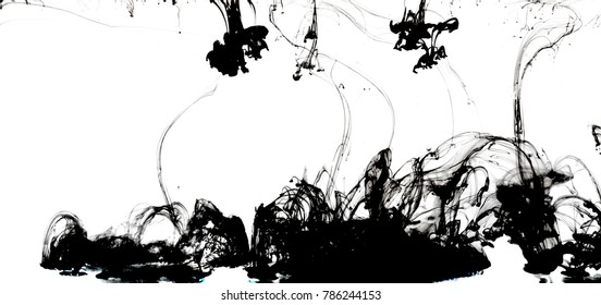 water and black ink lines on white