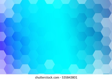 water blue color polygonal raster illustration, hexagon design for your ideas. gradient style, for business wallpaper, presentation