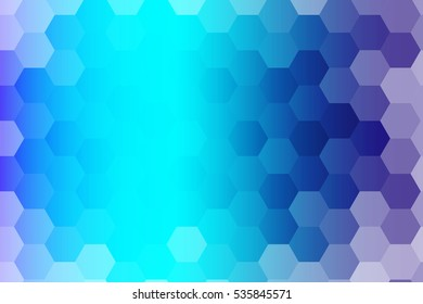 water blue color polygonal raster copy illustration, hexagon design for your ideas. gradient style, for business wallpaper, presentation