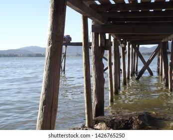 water boat relaxing nature exelent lake fishing