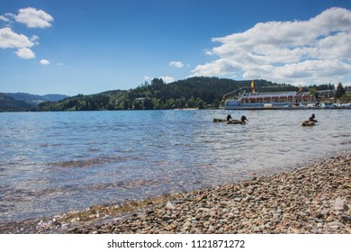 Water and boats on Titisee in Germany