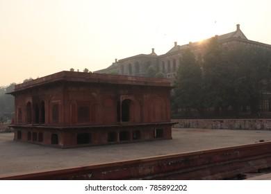 Water Body  Bath Hosue Jal Mahal inside red fort delhi