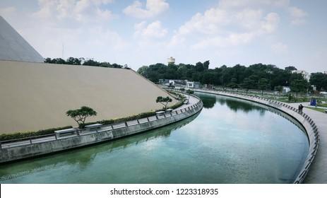 Water Body buffer space at Dandi Kutir, Gandhinagar