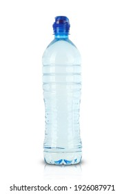 water bottle with dispenser on a white background