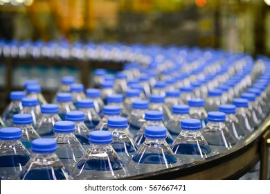 water bottle in factory