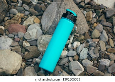 Water bottle. Hiking thermos. Travels.