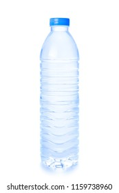 Water bottle isolated on white background.