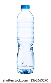 Water in bottle isolated on white background.