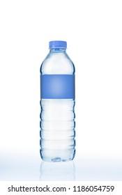 water bottle isolated white background