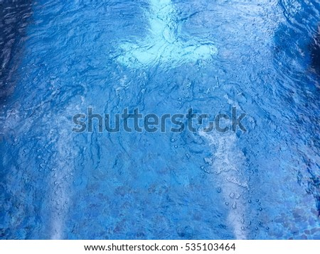 Water Bubble Blue Swimming Pool Bubble Stock Photo (Edit Now ...