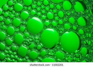water bubbles closeup.