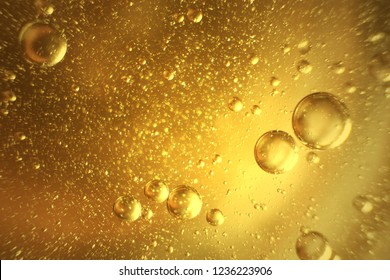 Water bubbles and oil abstract light illumination