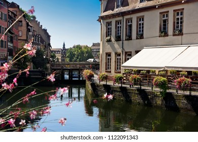 Water canals run through the village of Strasbourg in France
