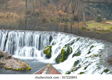Water cascade in wild