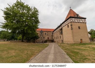 Water castle Budyne nad Ohri in Czech Republic