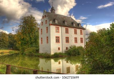 Water castle Metternicht. Weilerswist, Germany.