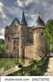 Water castle Satzvey. Mechernich, Germany.