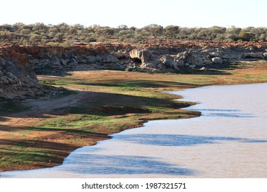 Water catchment basin in outback Western Australia