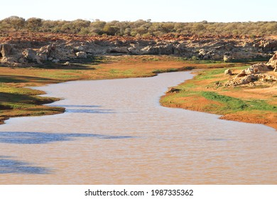 Water catchment in outback Australia