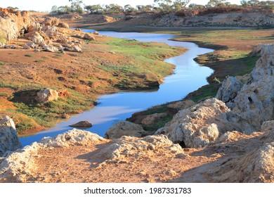 Water catchment stream at Niagara Dam in outback Australia
